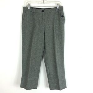 LOFT |Cropped Buttoned Wool Blend Business Trouser